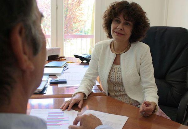 Nathalie Grelat à son bureau